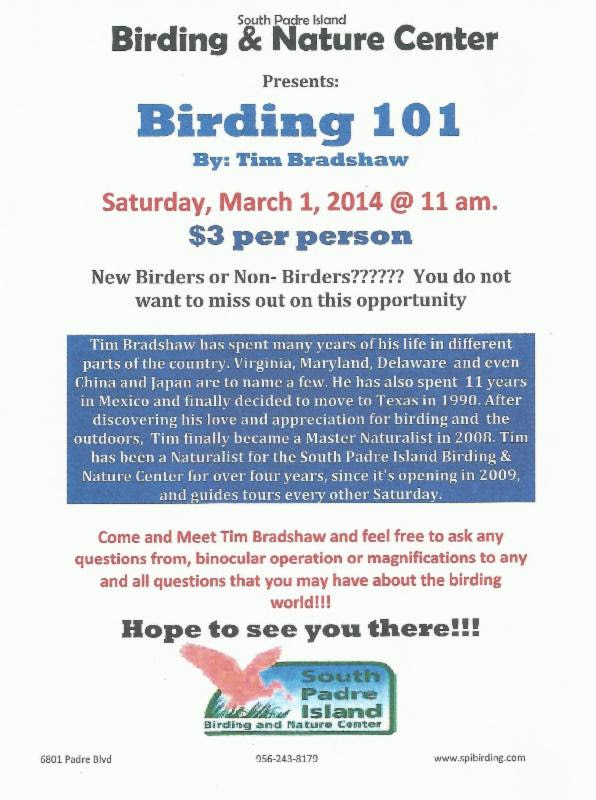 PET - BLOG PIC BIRDING CENTER EVENT