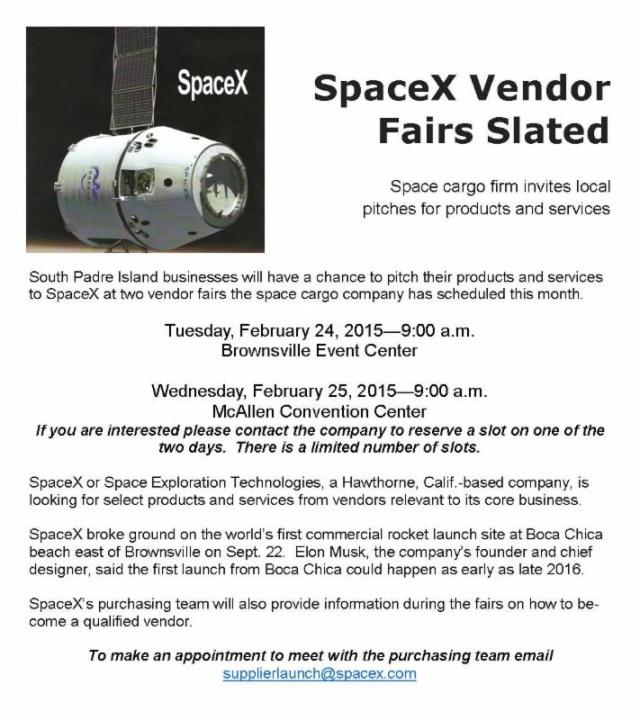 PET - BLOG PIC SPACEX VENDOR FAIR
