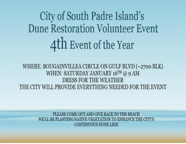 city of spi dune restoration event